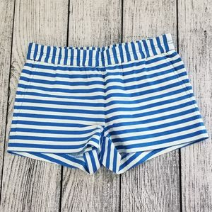 J Crew Blue & White Striped Shorts